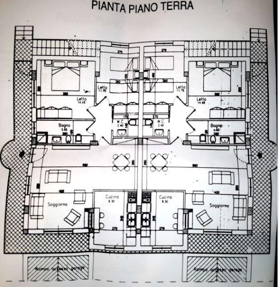 piantina casa piano terra cervaro vendita